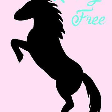 Riding Free Horse Silhouette  by killkillian