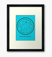 Gallifreyan - Brevity is the soul of wit Framed Print