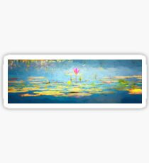 Water Lily - Tribute to Monet Sticker