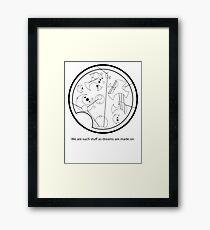 Gallifreyan - We are such things as dreams are made on Framed Print