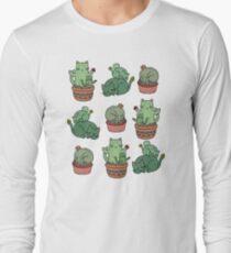 Kaktus Katzen Langarmshirt