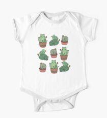 Kaktus Katzen Baby Body Kurzarm