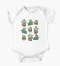 Kaktus Katzen Kurzärmeliger Einteiler