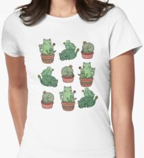 Cactus Cats Women's Fitted T-Shirt