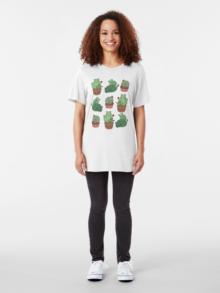 Alternate view of Cactus Cats Slim Fit T-Shirt