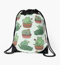 Cactus Cats Drawstring Bag