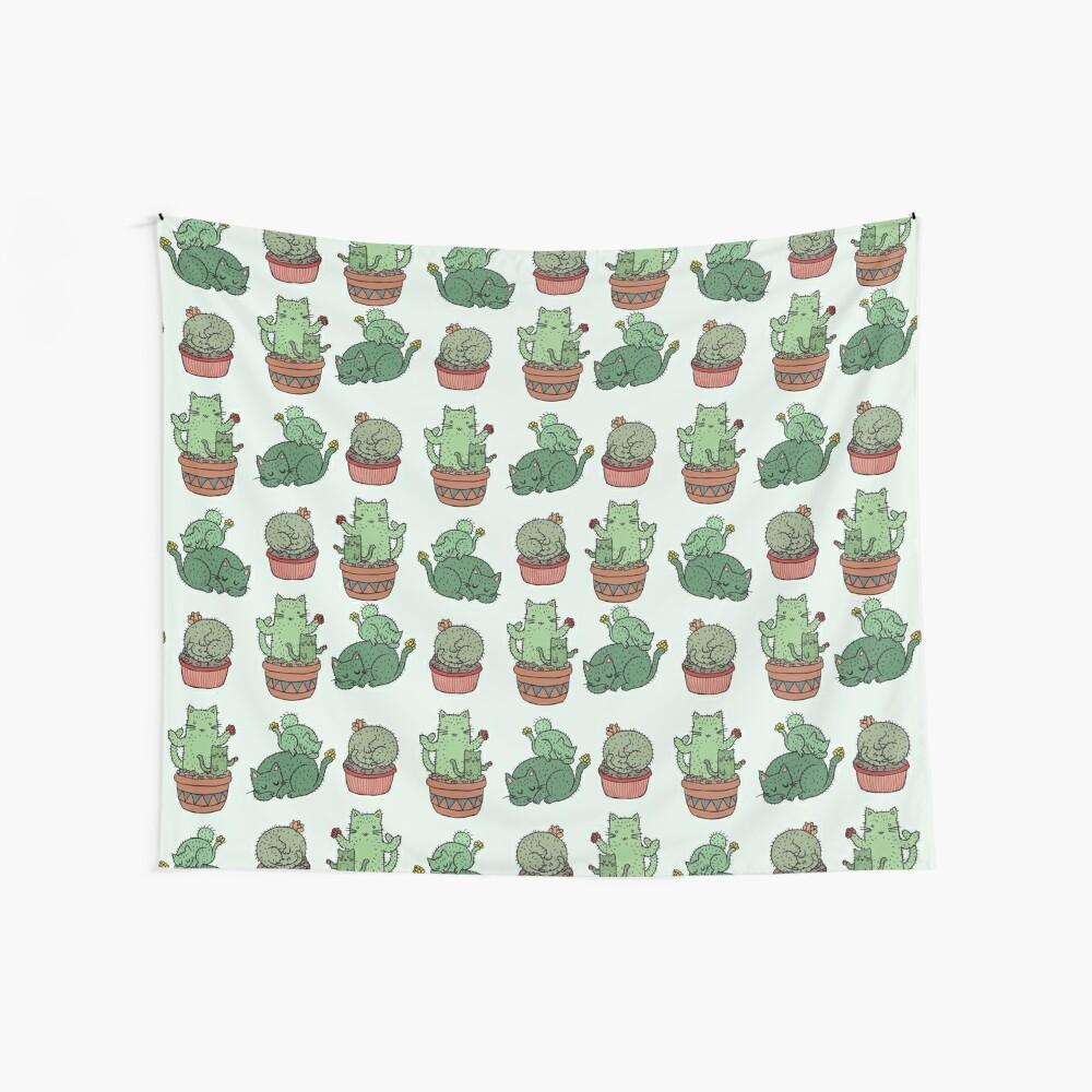 Kaktus Katzen Wandbehang