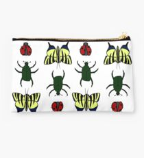 Bug Pattern - Butterfly, Beetle, and Ladybug Studio Pouch