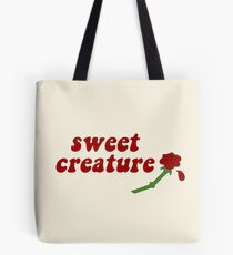 Sweet Creature Rose Design Tote Bag