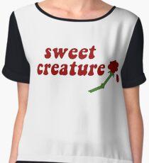 Sweet Creature Rose Design Women's Chiffon Top