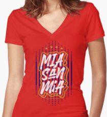 Bayern Munchen : Mia San Mia Women's Fitted V-Neck T-Shirt