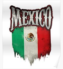 Mexican Flag Art Design Poster