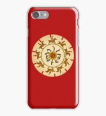 Riding Horses in a circle iPhone Case/Skin