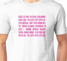 Gypsy Lyrics Unisex T-Shirt
