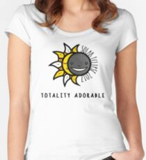 Solar Eclipse 2017 Shirt - Totality Adorable - August 21, 2017 - White Women's Fitted Scoop T-Shirt