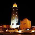 Koutoubia at Night by Joanne Pickering