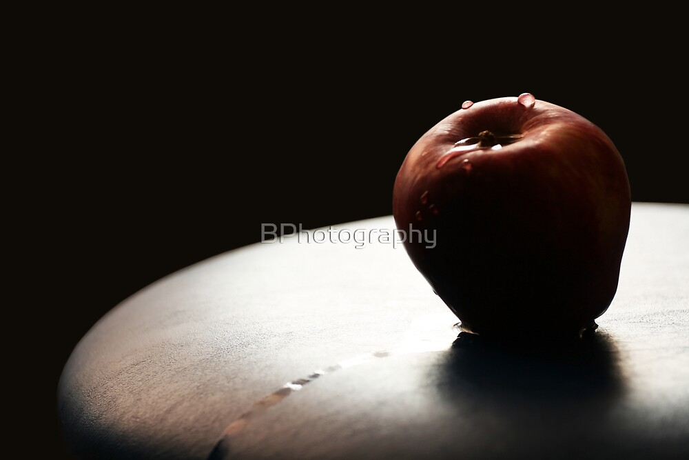 Drops on the apple by BPhotography