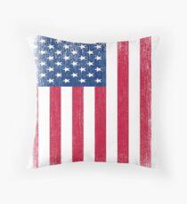 Vintage USA-Flagge Dekokissen