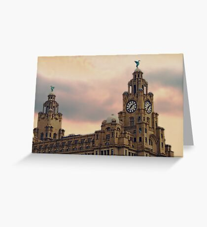 Liver Buildings - Liverpool Greeting Card