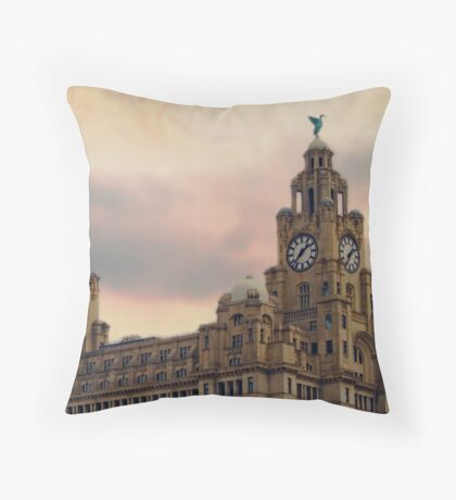 Liver Buildings - Liverpool Throw Pillow