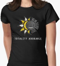 Solar Eclipse Shirt - Totality Adorable - August 21, 2017 - Black Womens Fitted T-Shirt
