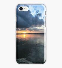 Sundown over Juan de Fuca strait iPhone Case/Skin