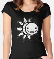 Solar Eclipse 2017 Shirt - Totality Adorable - August 21, 2017 - Sun and Moon Minimal Women's Fitted Scoop T-Shirt