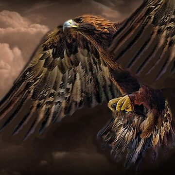 ☝ ☞ GOLDEN EAGLE IN FLIGHT  PICTURE-PILLOW-AND OR TOTE BAG☝ ☞ by Rapture777