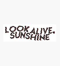 Schau lebendig, Sonnenschein Fotodruck