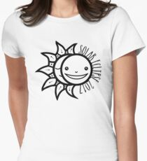 Solar Eclipse Shirt  - August 21, 2017 - Minimal Womens Fitted T-Shirt