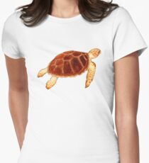 Loggerhead Sea Turtle Womens Fitted T-Shirt