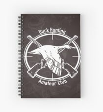 Duck Hunting Amateur club Spiral Notebook