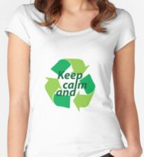 Keep calm and recycle Women's Fitted Scoop T-Shirt