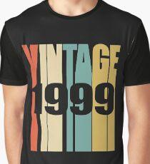 Vintage 1999 Birthday Retro Design  Graphic T-Shirt