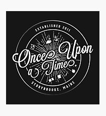 Once Upon A Time / TV / Badge Design Photographic Print