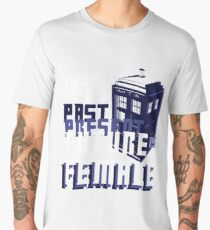 The Past-Present-Future Is Female (TARDIS) Men's Premium T-Shirt