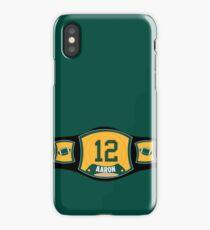 AR 12 TITLE BELT iPhone Case/Skin