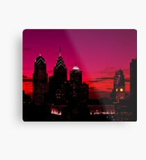 Philadelphia Skyline Sundown  Metal Print