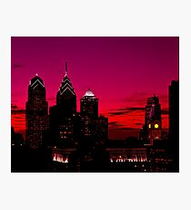Philadelphia Skyline Sundown  Photographic Print