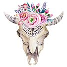 Sheepskull floral bohemian chic by texashandmade