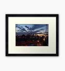 Philadelphia Skyline At Night Framed Print