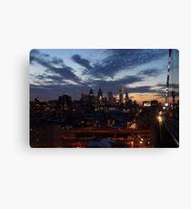 Philadelphia Skyline At Night Canvas Print