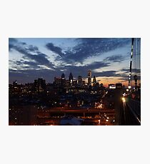 Philadelphia Skyline At Night Photographic Print