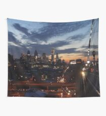Philadelphia Skyline bei Nacht Wandbehang