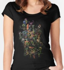 Monster Party Women's Fitted Scoop T-Shirt