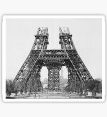 Eiffel Tower Construction Sticker