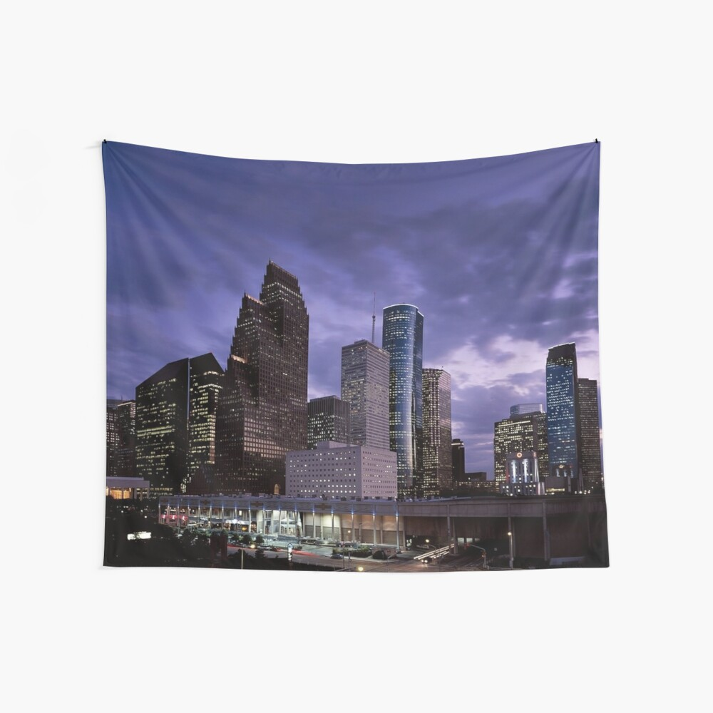 Houston Nacht Skyline Wandbehang