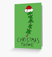 Christmas Thyme Greeting Card