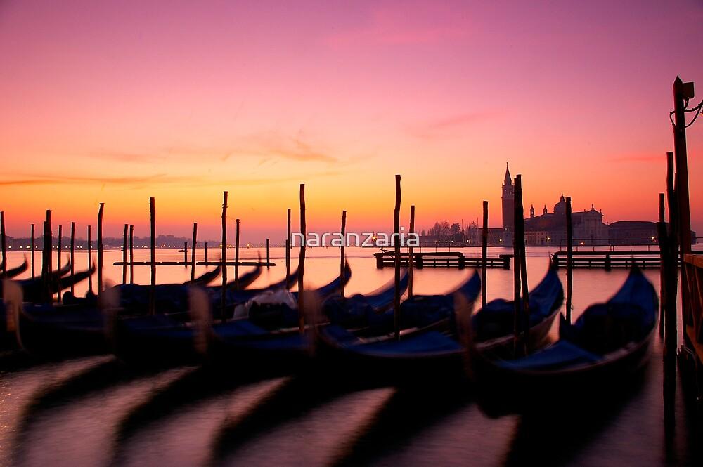 Gondolas at dawn. by naranzaria