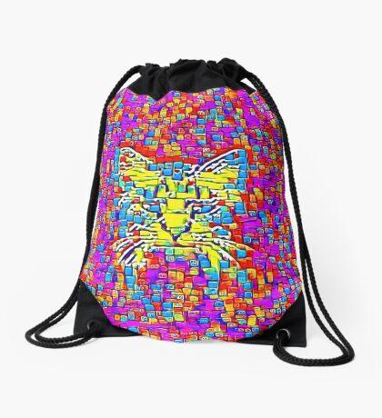 Lemon Cat Drawstring Bag